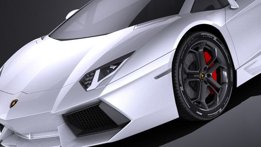 Lamborghini Aventador LP700-4 2016 VRAY royalty-free 3d model - Preview no. 3