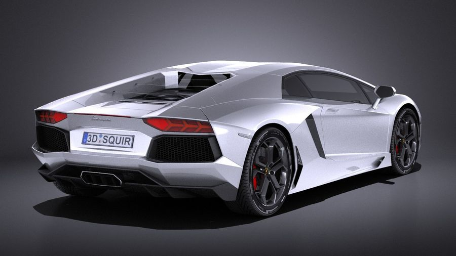Lamborghini Aventador LP700-4 2016 VRAY royalty-free 3d model - Preview no. 6