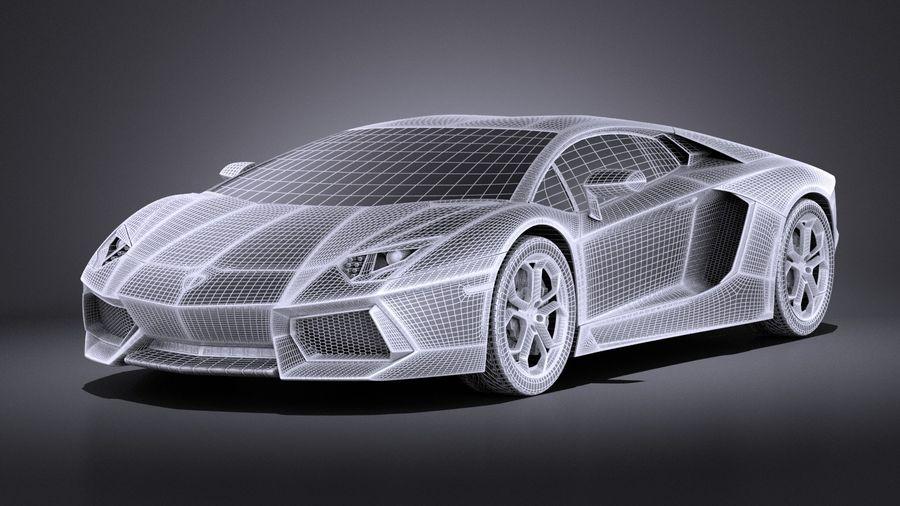 Lamborghini Aventador LP700-4 2016 VRAY royalty-free 3d model - Preview no. 13