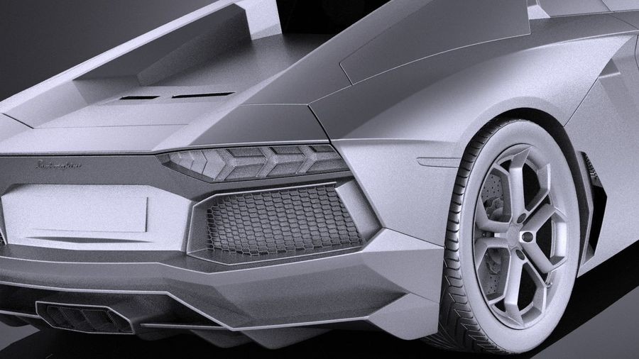 Lamborghini Aventador LP700-4 2016 VRAY royalty-free 3d model - Preview no. 11