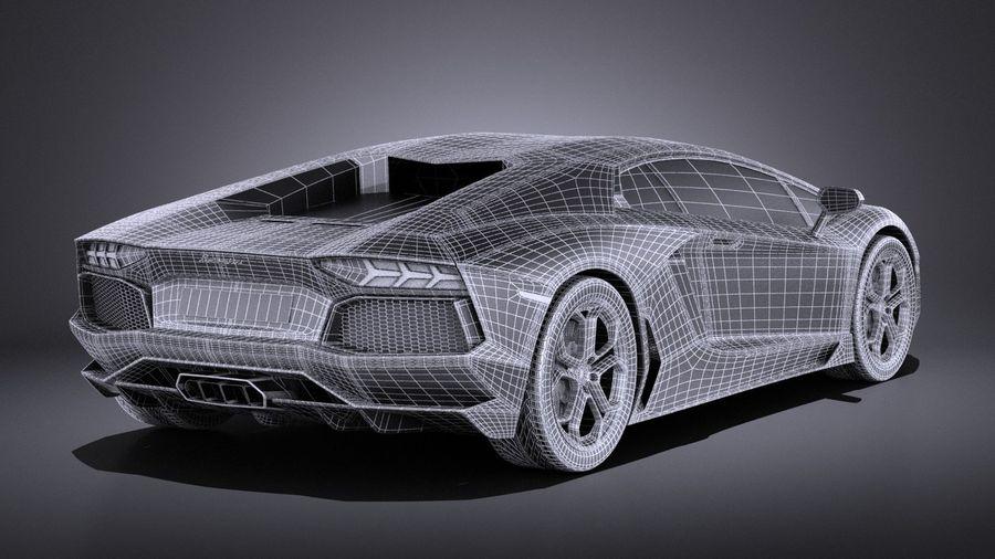 Lamborghini Aventador LP700-4 2016 VRAY royalty-free 3d model - Preview no. 16
