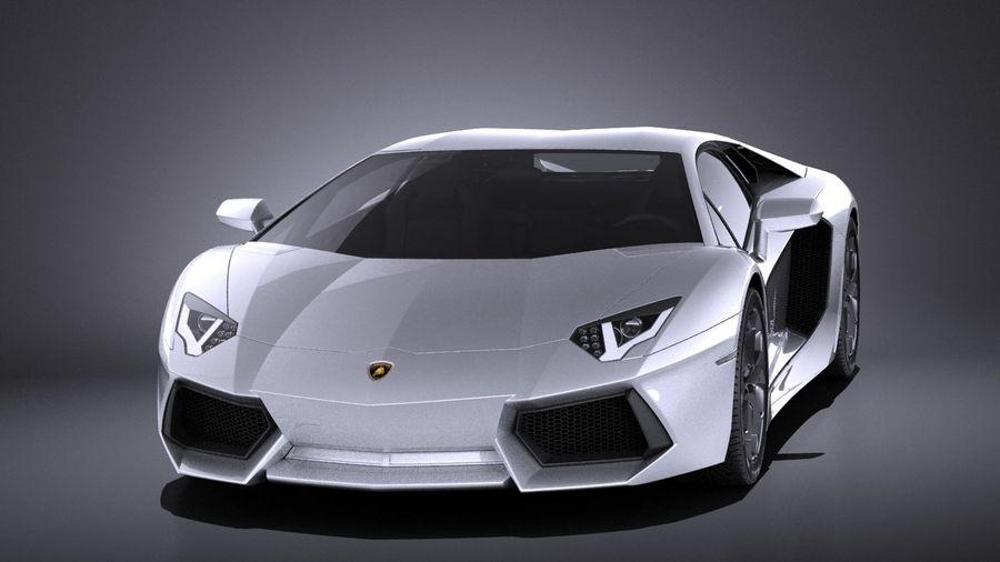 Lamborghini Aventador LP700-4 2016 VRAY royalty-free 3d model - Preview no. 2