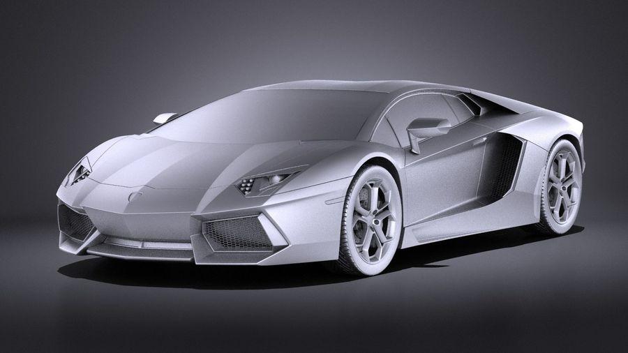 Lamborghini Aventador LP700-4 2016 VRAY royalty-free 3d model - Preview no. 9