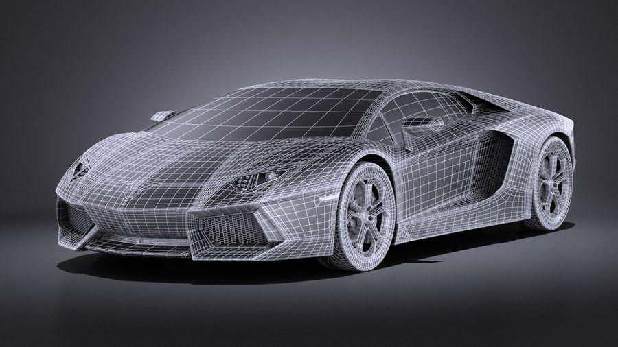 Lamborghini Aventador LP700-4 2016 VRAY royalty-free 3d model - Preview no. 15