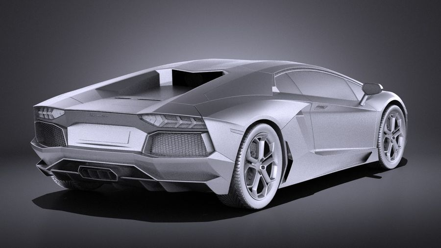 Lamborghini Aventador LP700-4 2016 VRAY royalty-free 3d model - Preview no. 12