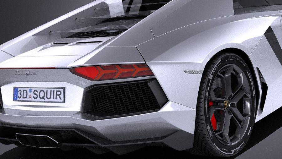 Lamborghini Aventador LP700-4 2016 VRAY royalty-free 3d model - Preview no. 4