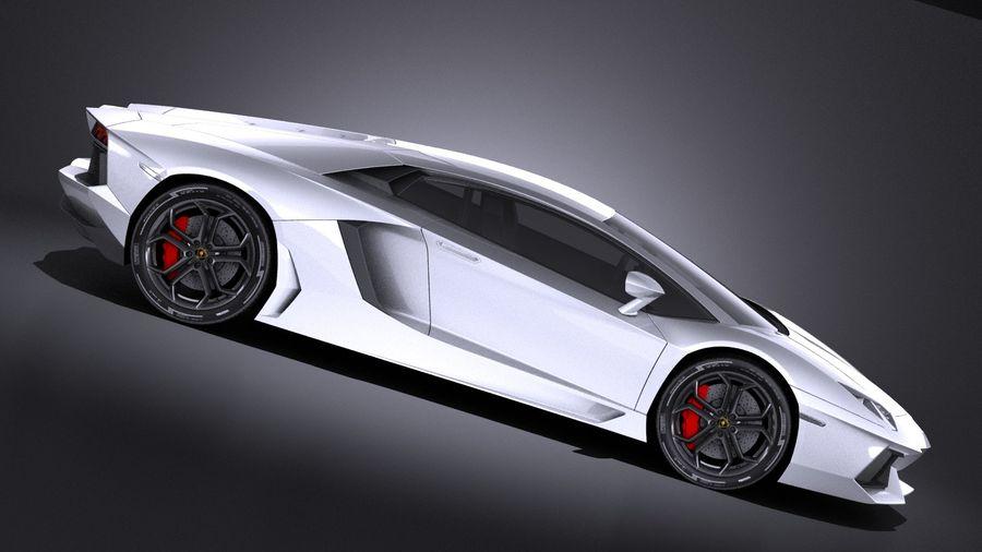 Lamborghini Aventador LP700-4 2016 VRAY royalty-free 3d model - Preview no. 7