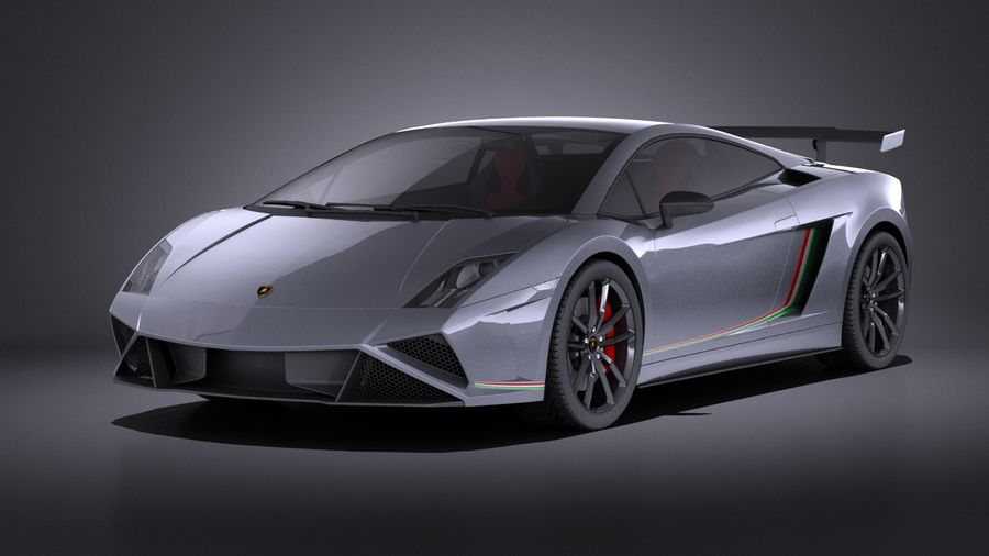 Lamborghini Gallardo Squadra Corse 2015 VRAY royalty-free 3d model - Preview no. 1