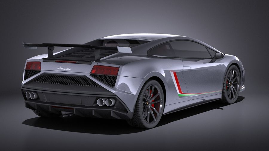 Lamborghini Gallardo Squadra Corse 2015 VRAY royalty-free 3d model - Preview no. 6