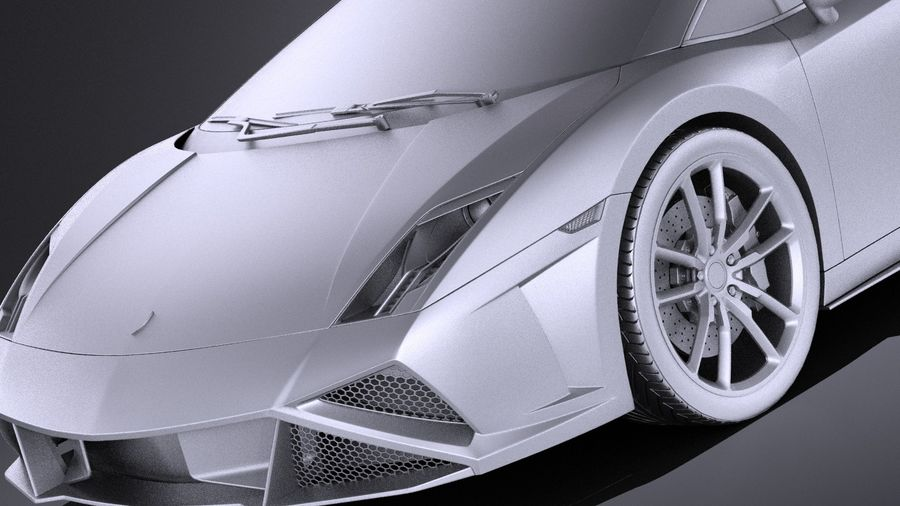 Lamborghini Gallardo Squadra Corse 2015 VRAY royalty-free 3d model - Preview no. 11