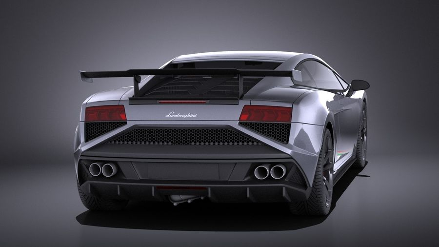 Lamborghini Gallardo Squadra Corse 2015 VRAY royalty-free 3d model - Preview no. 5