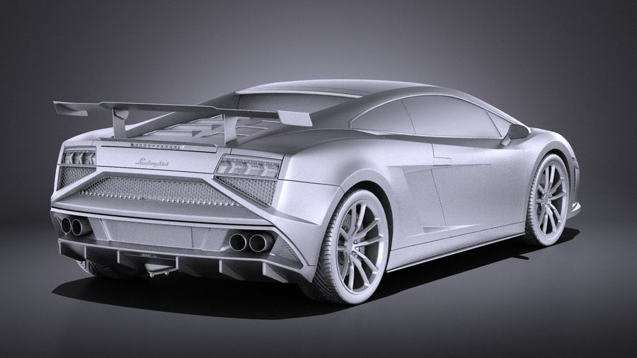 Lamborghini Gallardo Squadra Corse 2015 VRAY royalty-free 3d model - Preview no. 13