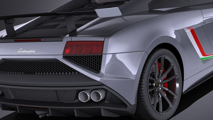 Lamborghini Gallardo Squadra Corse 2015 VRAY royalty-free 3d model - Preview no. 4