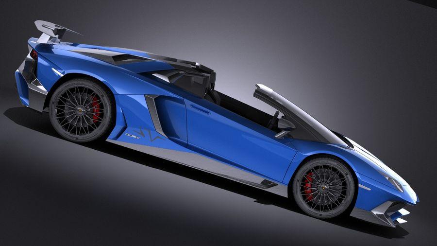 Lamborghini Aventador LP750-4 SV Roadster 2016 VRAY royalty-free 3d model - Preview no. 10