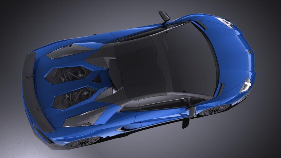 Lamborghini Aventador LP750-4 SV Roadster 2016 VRAY royalty-free 3d model - Preview no. 9