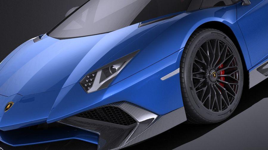 Lamborghini Aventador LP750-4 SV Roadster 2016 VRAY royalty-free 3d model - Preview no. 4