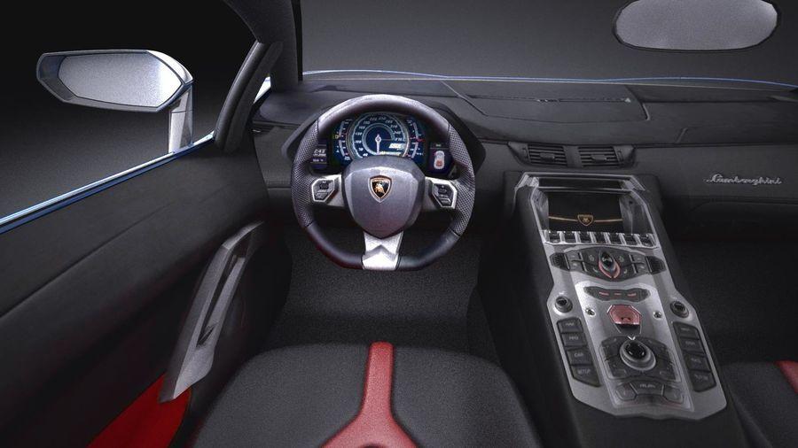 Lamborghini Aventador LP750-4 SV Roadster 2016 VRAY royalty-free 3d model - Preview no. 16