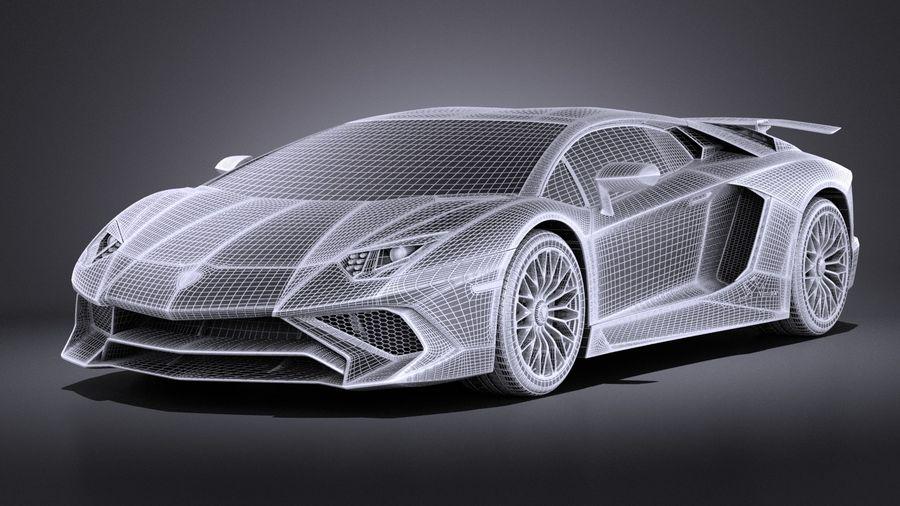 Lamborghini Aventador LP750-4 SV Roadster 2016 VRAY royalty-free 3d model - Preview no. 18