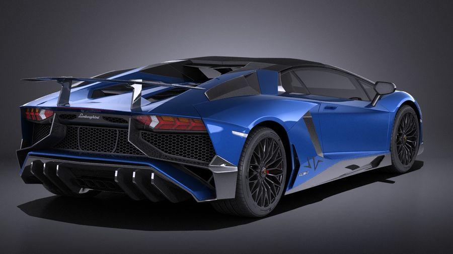 Lamborghini Aventador LP750-4 SV Roadster 2016 VRAY royalty-free 3d model - Preview no. 7
