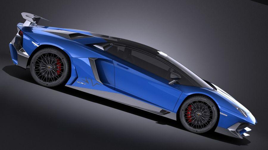 Lamborghini Aventador LP750-4 SV Roadster 2016 VRAY royalty-free 3d model - Preview no. 8