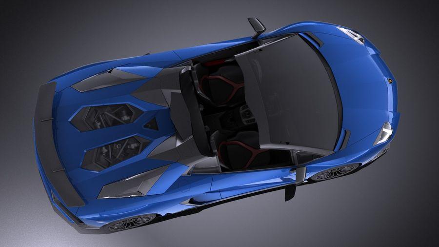 Lamborghini Aventador LP750-4 SV Roadster 2016 VRAY royalty-free 3d model - Preview no. 11