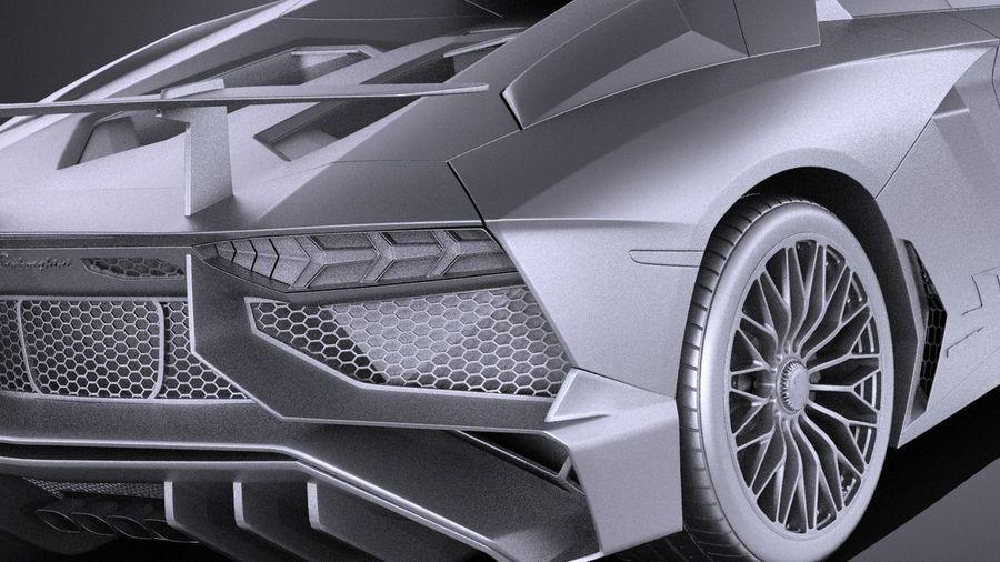 Lamborghini Aventador LP750-4 SV Roadster 2016 VRAY royalty-free 3d model - Preview no. 14