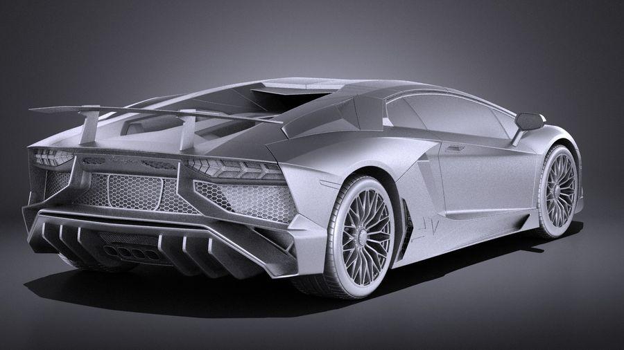 Lamborghini Aventador LP750-4 SV Roadster 2016 VRAY royalty-free 3d model - Preview no. 15
