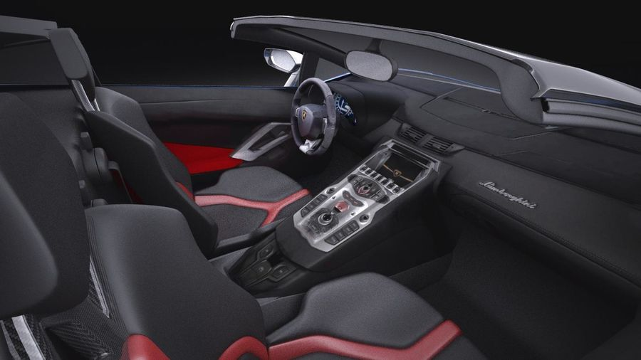 Lamborghini Aventador LP750-4 SV Roadster 2016 VRAY royalty-free 3d model - Preview no. 17