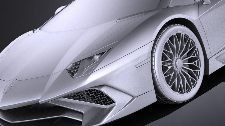 Lamborghini Aventador LP750-4 SV Roadster 2016 VRAY royalty-free 3d model - Preview no. 13