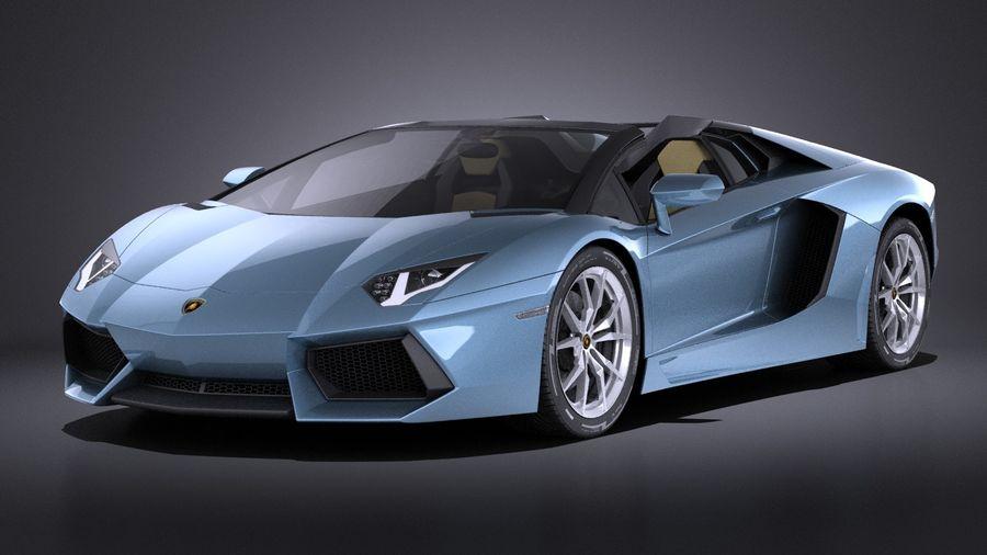 Lamborghini Aventador LP700-4 Roadster 2015 VRAY 3D Model $129 ...