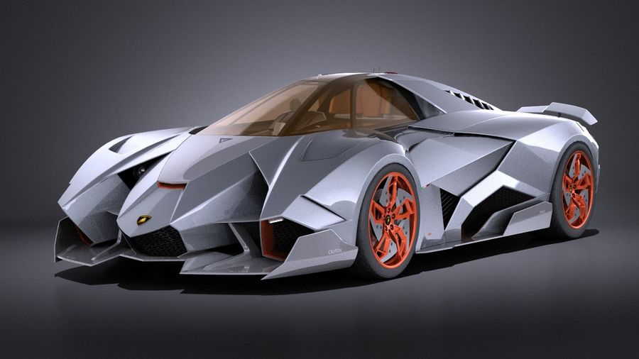 Lamborghini Egoista VRAY 3D Model $129 - .obj .max .lwo .fbx .c4d ...