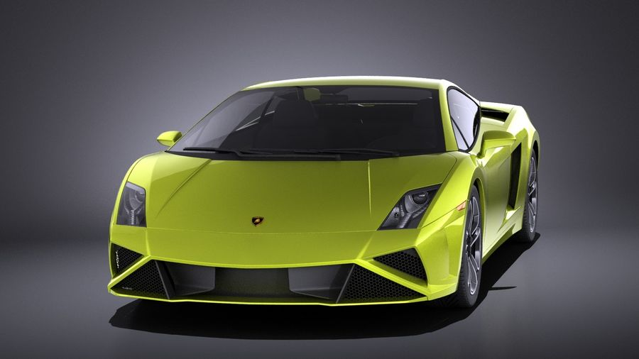 Lamborghini Gallardo lp560 4 2015 VRAY royalty-free 3d model - Preview no. 2