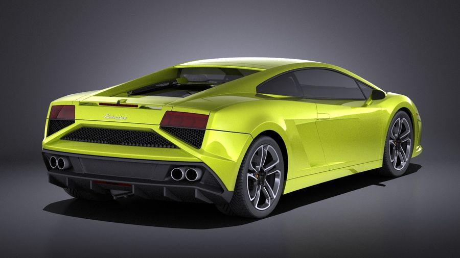 Lamborghini Gallardo lp560 4 2015 VRAY royalty-free 3d model - Preview no. 6