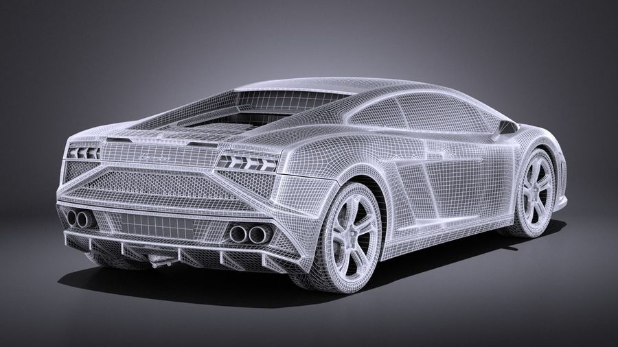 Lamborghini Gallardo lp560 4 2015 VRAY royalty-free 3d model - Preview no. 14