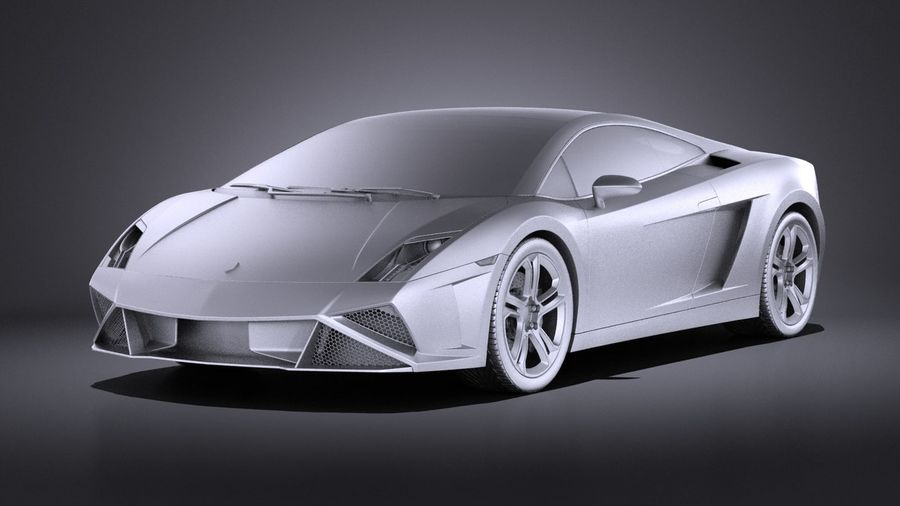 Lamborghini Gallardo lp560 4 2015 VRAY royalty-free 3d model - Preview no. 9