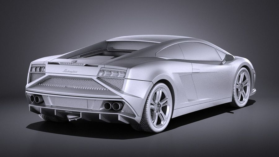 Lamborghini Gallardo lp560 4 2015 VRAY royalty-free 3d model - Preview no. 12