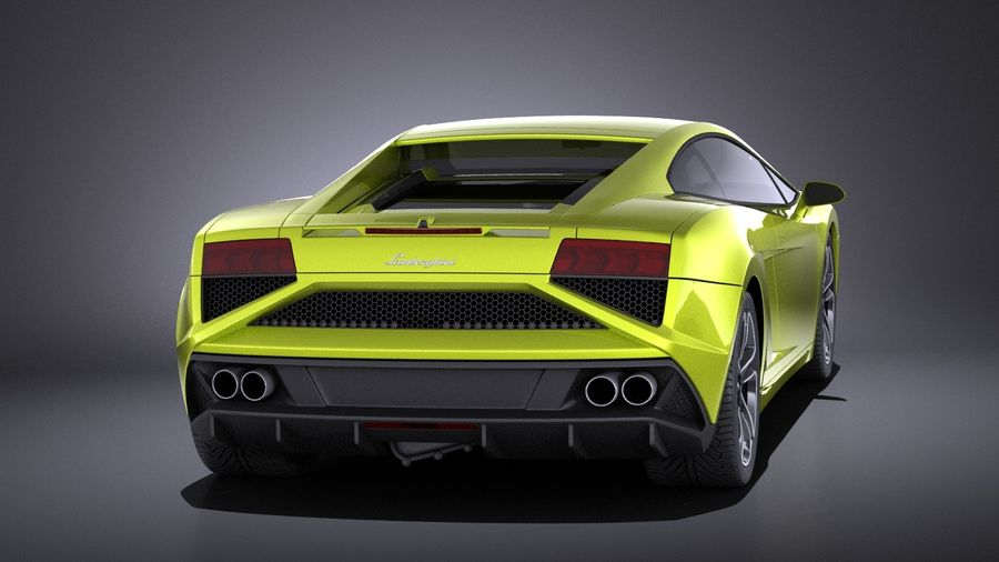 Lamborghini Gallardo lp560 4 2015 VRAY royalty-free 3d model - Preview no. 5