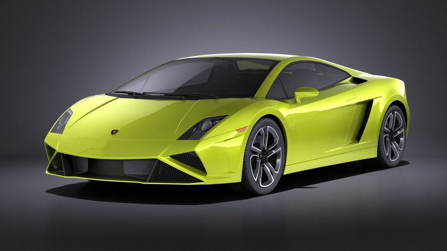 Lamborghini Gallardo lp560 4 2015 VRAY royalty-free 3d model - Preview no. 1