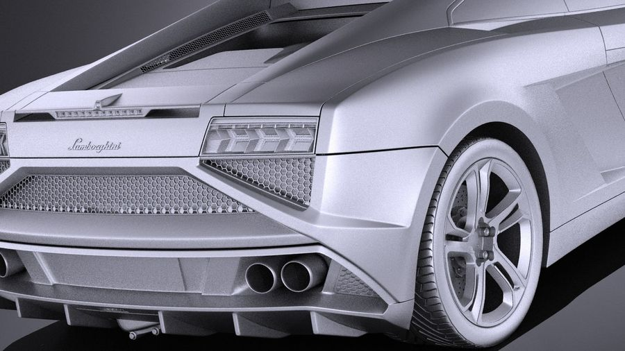 Lamborghini Gallardo lp560 4 2015 VRAY royalty-free 3d model - Preview no. 11