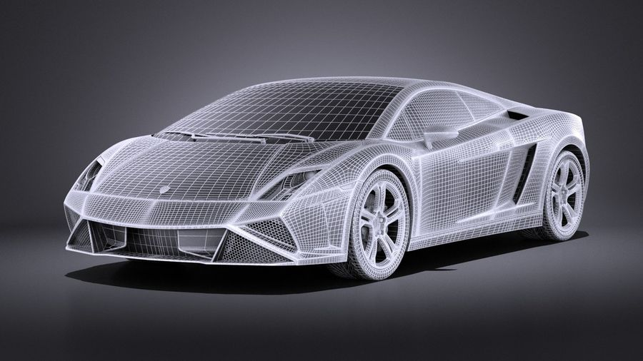 Lamborghini Gallardo lp560 4 2015 VRAY royalty-free 3d model - Preview no. 13