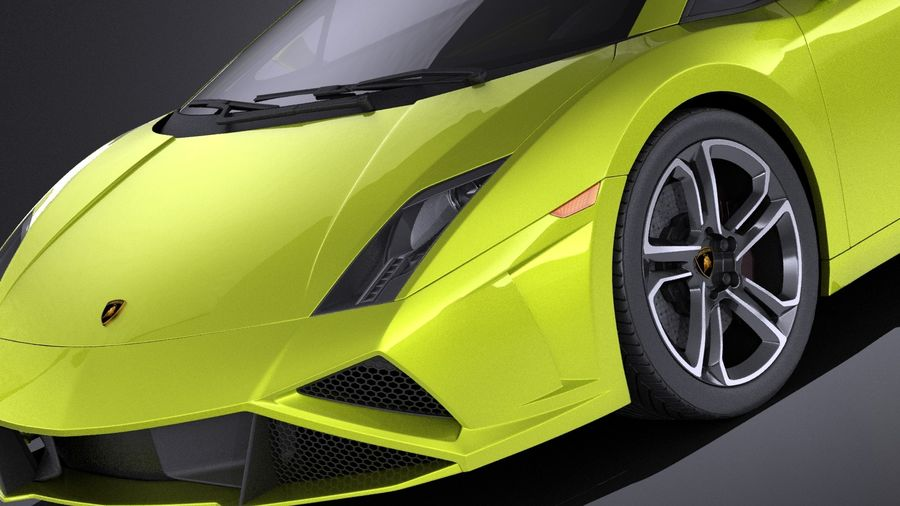 Lamborghini Gallardo lp560 4 2015 VRAY royalty-free 3d model - Preview no. 3