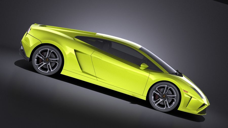 Lamborghini Gallardo lp560 4 2015 VRAY royalty-free 3d model - Preview no. 7