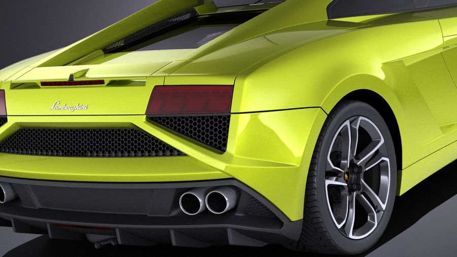 Lamborghini Gallardo lp560 4 2015 VRAY royalty-free 3d model - Preview no. 4