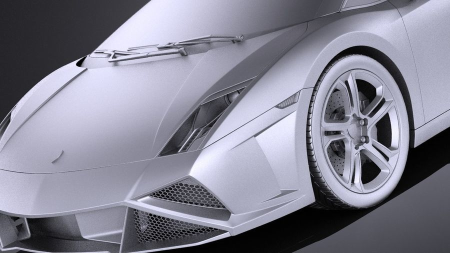 Lamborghini Gallardo lp560 4 2015 VRAY royalty-free 3d model - Preview no. 10