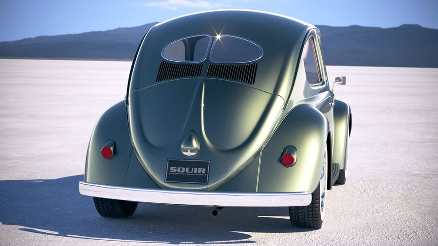 Vokswagen Beetle 1950 royalty-free 3d model - Preview no. 6