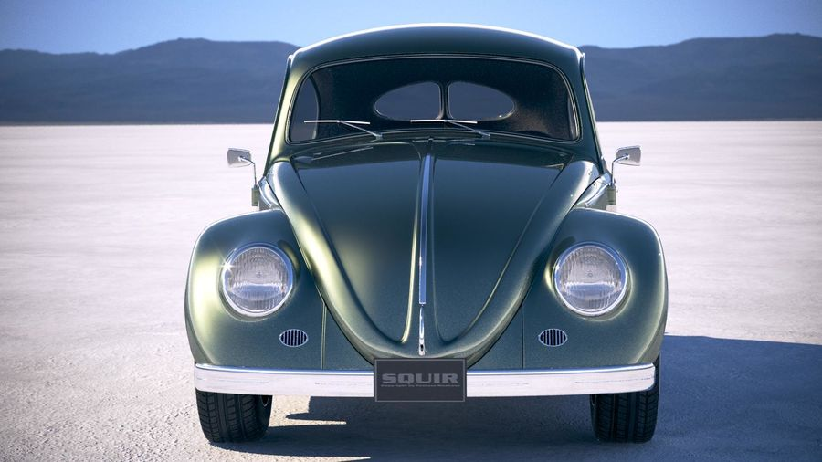 Vokswagen Beetle 1950 royalty-free 3d model - Preview no. 10