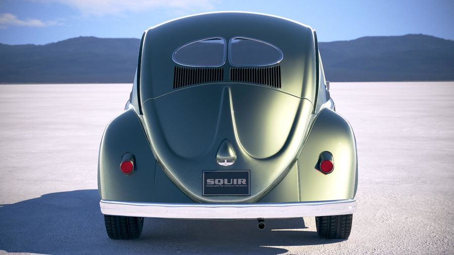 Vokswagen Beetle 1950 royalty-free 3d model - Preview no. 11