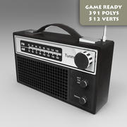 FM Radio Game Ready Pbr 3d model