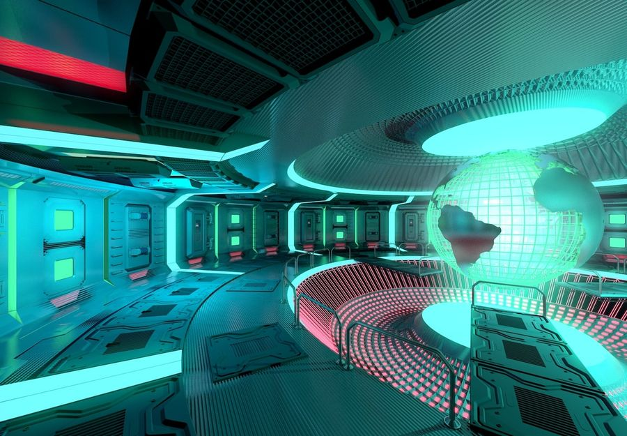 Sci-fi Area royalty-free 3d model - Preview no. 2