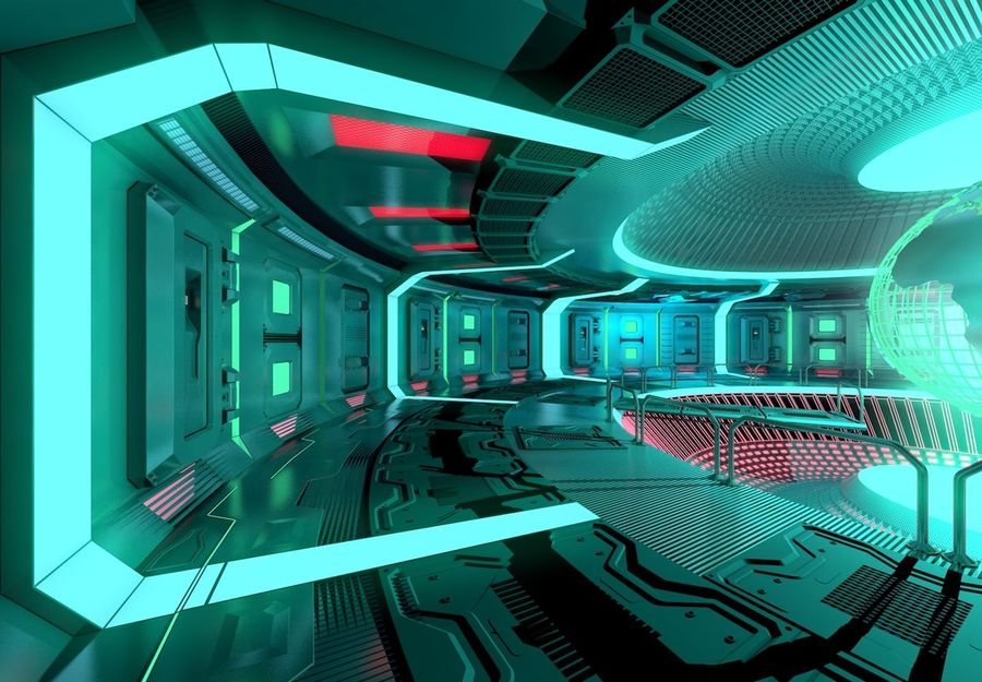 Sci-fi Area royalty-free 3d model - Preview no. 6